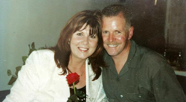 Happier times: Kate Carroll, with her husband Stephen Carroll who was murdered by dissident republicans