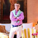 COLOURFUL CHARACTER: Jasper Conran in his new hotel in Morocco