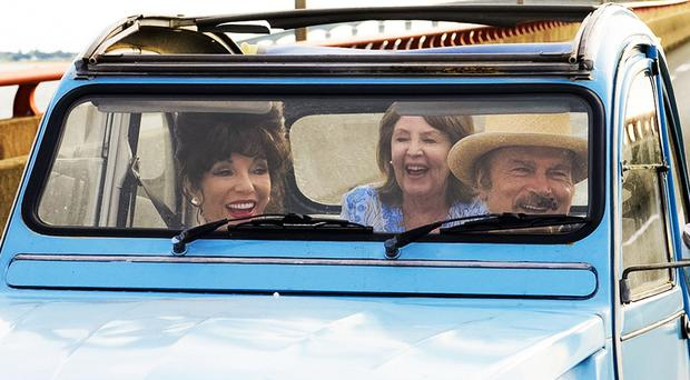 Joan Collins as Helen, Pauline Collins as Priscilla and Franco Nero as Alberto. Photo: PA Photo/Organic Publicity
