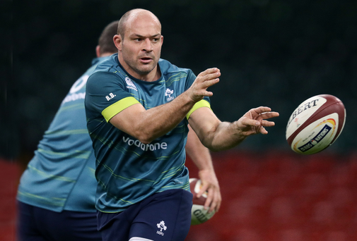 Top man: Ireland's Rory Best during the Captain's Run at the Principality Stadium in Cardiff yesterday