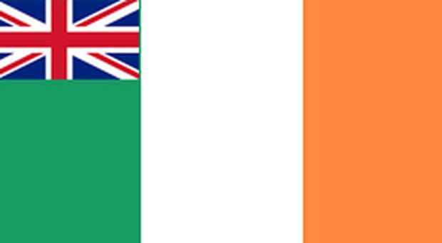 Submitted by Jerry Barnes Sacramento, California. There is already a flag that represents the British tradition in Ireland, it's called the tricolor and that is what the Orange field represents. It's very simple, it represents both traditions equally (despite the Orange population being a small minority) with peace between both groups. If NI wants a new flag the tricolor can be used with a Union flag added to one corner. Upon re-unification the Union insignia could be removed. The traditional Ulster flag represents all of Ulster, not just NI