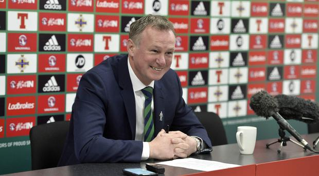 Northern Ireland team manager Michael ONeill pictured at the National Stadium at the team announcement for the home game against Norway on the March 26. Photo by Stephen Hamilton / Press Eye.