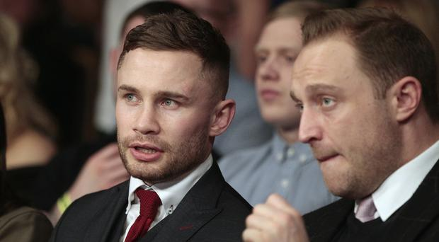 Carl Frampton watching the boxing at the waterfront hall. Picture by Peter Morrison/Press Eye