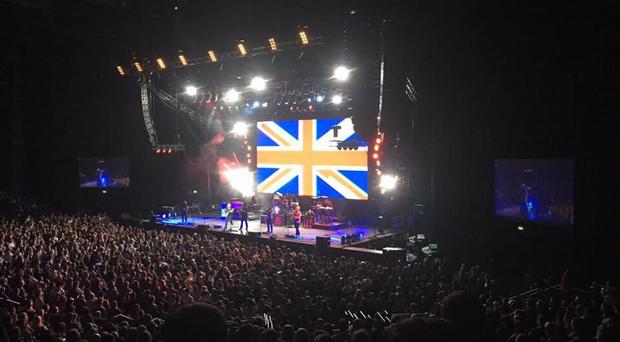 A giant Union flag was displayed during the set. Pic: Downtown Country