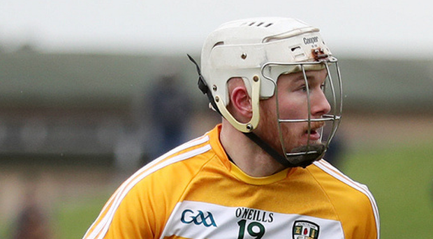 Target man: Deaghlan Murphy's seven points were crucial for Antrim