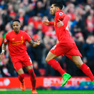 Winning formula: Emre Can celebrates hitting Liverpool's winner at Anfield yesterday