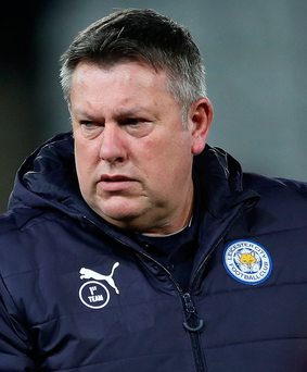 Top job: Craig Shakespeare has won both his games in charge