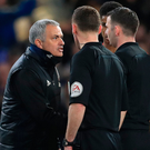Listen here: Jose Mourinho remonstrates with officials last night