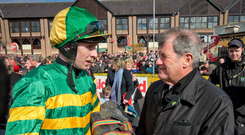 On the big stage: Mark Walsh is hoping to repay JP McManus at Cheltenham