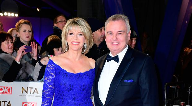 Ruth Langsford and Eamonn Holmes arriving at the National Television Awards 2017