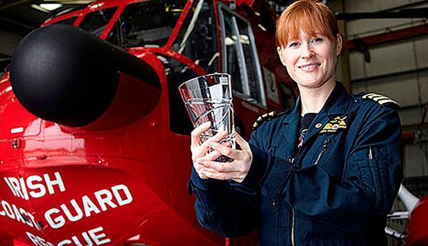 Irish Coast Guard helicopter captain Dara Fitzpatrick. PA
