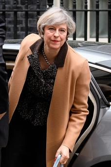 Prime Minister Theresa May returns to 10 Downing Street yesterday after delivering a statement on the EU Council meeting to the House of Commons.