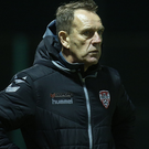 Cool head: Derry boss Kenny Shiels won't get carried away. Photo: Lorcan Doherty / Presseye