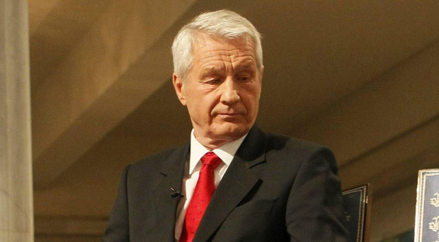 Comments: Thorbjorn Jagland. AP Photo/Heiko Junge