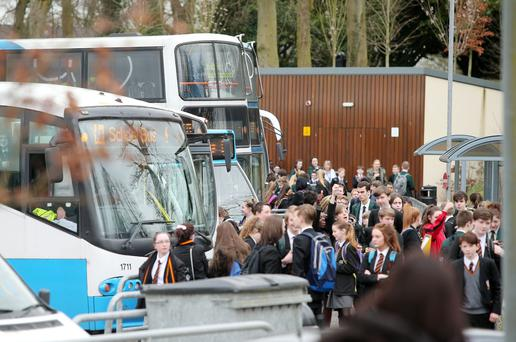 The scene at Lagan College in the Castlereigh hills Picture by Jonathan Porter/PressEye.com