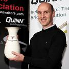 Winning ways: Paddy Tally with his GAA writers' trophy