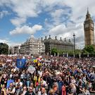 Remainers protest against the Brexit vote in London