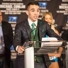 Raring to go: a fired-up Michael Conlan speaks at his pre-fight press conference in New York