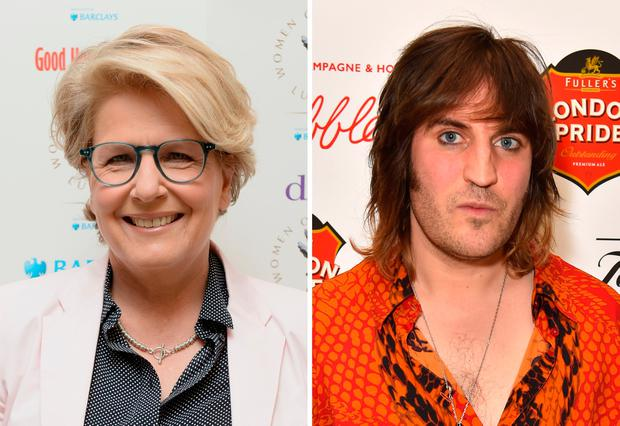 File photos of Sandi Toksvig (left) and Noel Fielding who have been confirmed as presenters on Channel 4's The Great British Bake Off. PA
