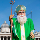 A 16ft tall puppet of St Patrick in Trafalgar Square, London, as Tourism Ireland celebrate St Patrick's Day, which is on Friday 17th March. PA