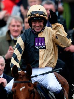 Winner alright: Ruby Walsh is all smiles aboard Yorkhill