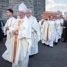 The funeral of Bishop Eamon Casey at the Cathedral of Our Lady Assumed into Heaven and St Nicholas in Galway