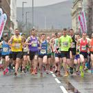 St Patrick's Day, Spar Craic 10K race in Belfast. March 2017
