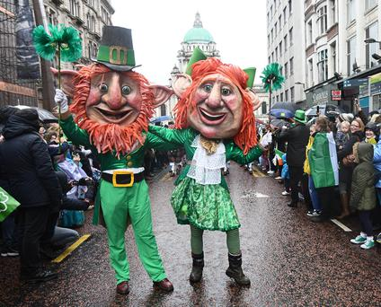 St Patrick's day Parade in Belfast. 2017
