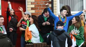 Pacemaker Press 17/3/2017 Police and student Safety representatives in the Holylands area of Belfast for St Patrick's day on Friday. Pic Colm Lenaghan/Pacemaker