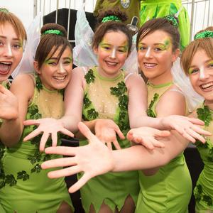 Flashback to 2017..... Members of the Rainbow School of Dance pictured during Derry City and Strabane District Council's the annual Spring Carnival on St. Patrick's Day in Derry-Londonderry. Picture Martin McKeown. Inpresspics.com. 17.03.17