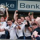 Macrory Cup Final St Mary's Grammar Magherafelt's after winning the cup. Image: Pacemaker