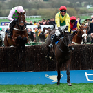 Size matters: Sizing John, with Robbie Power in the saddle, on the way to victory in the Cheltenham Gold Cup