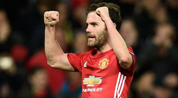 Glory bid: United's Juan Mata is aiming for Euro success