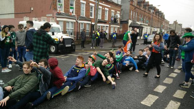 Scenes in the Holyland area of Belfast on St Patrick's Day 2017.