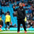 Liverpool manager Jurgen Klopp during the Premier League match at the Etihad Stadium, Manchester. (Nick Potts/PA Wire)