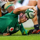 Try that: Iain Henderson bags a try against England