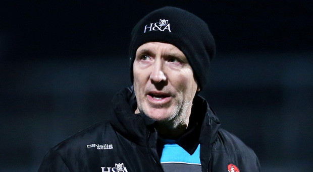 Big challenge: Derry boss Damian Barton says his side must win their two remaining matches in the League to survive in Division Two