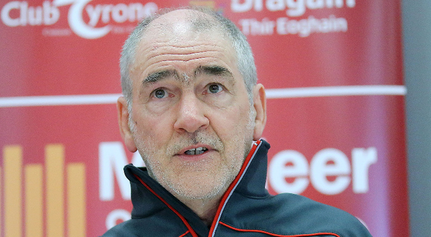 Defiant: manager Mickey Harte expects his Tyrone side to show their class