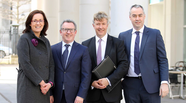 From left, Alison Gowdy, Invest NI trade director, Mark O'Connell of OCO, Richard Oliver of British Business Group, UAE, and OCO's Gareth Hagan