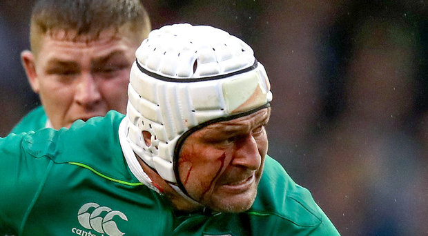 Rory Best in action for Ireland