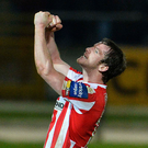 Dream come true: Ryan McBride, who tragically died on Sunday, was in his element wearing the Derry City jersey