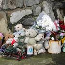 Tributes placed on Buncrana pier