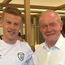 James McClean with Martin McGuinness