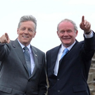 Former First Minister Peter Robinson and former deputy First Minister Martin McGuinness kept the best of personal relationships, the former DUP leader said. Photo: Colm Lenaghan/ Pacemaker