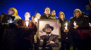 A vigil is held in west Belfast for former Deputy First Minister Martin McGuinness following his passing on March 21st 2017 (Photo - Kevin Scott / Belfast Telegraph )