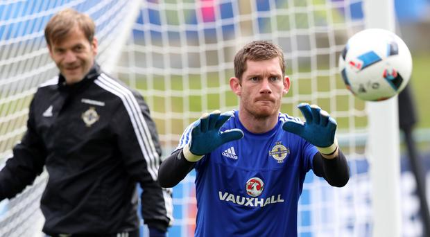 Safe pair: Michael McGovern has competition from Roy Carroll. Photo: William Cherry