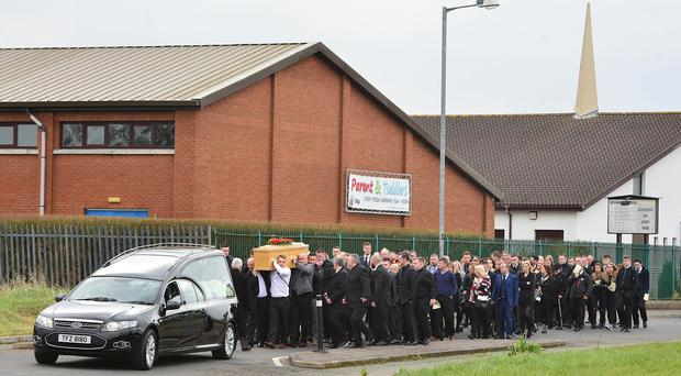 funeral of murdered ex uda chief george gilmore takes