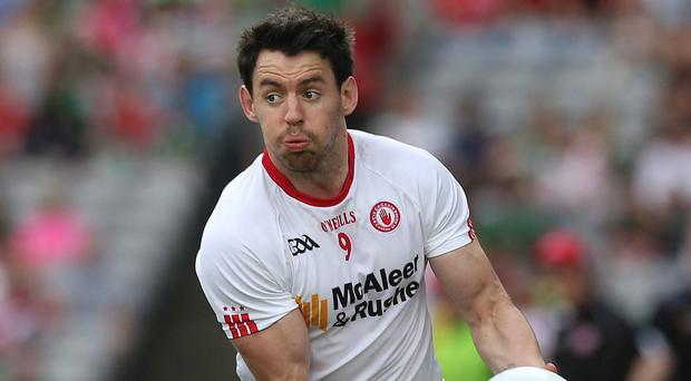 Major issue: Tyrone's Mattie Donnelly (pictured) and Monaghan's Darren Hughes have both suffered head injuries