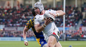 Big moment: Luke Marshall will win his 100th Ulster cap in Wales tonight