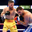 Big night: Conrad Cummings faces a tough test in Edinburgh tonight